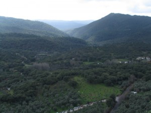 Una veduta della Sierra di Aracena