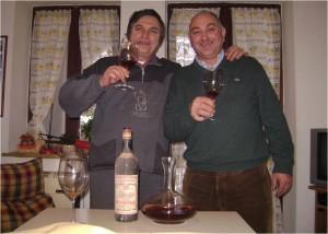 """Federico ed Enzo con il """"vecchio"""" nel bicchiere"""