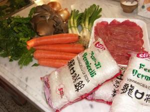 Gli ingredienti per il Tchap Tchè