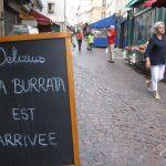 Burrata in Rue Mouffetard
