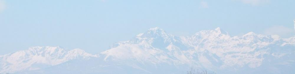 Il Monte Rosa visto da Lessona