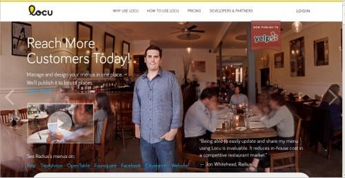 Homepage Locu