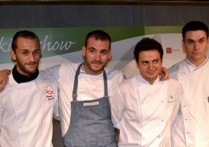 i 4 finalisti del Centro Italia, da sx Sabatino Lattanzi, Marco Martini, Marco Veneruso, Nello Cassese