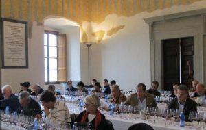 La degustazione dei vini del Trasimeno al termine del convegno