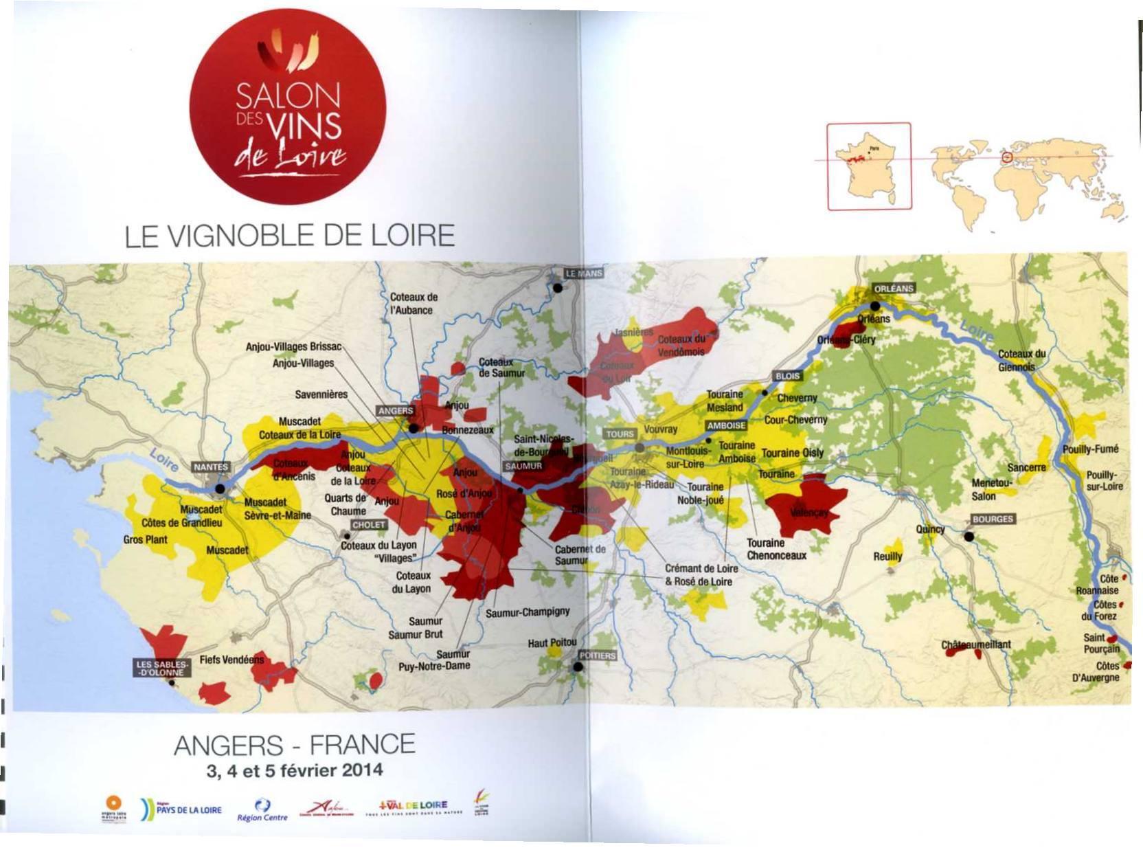cartina vignoble de la loire