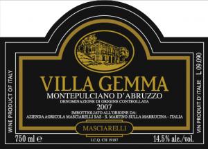 etichetta villa gemma