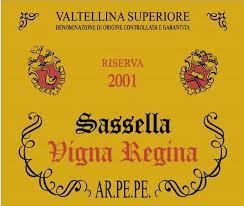 Sassella Vigna Regina 2001 Arpepe