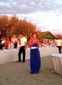 la presentatrice Annamaria Tossani