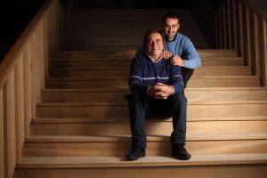 Alfredo e Luca nella nuova cantina