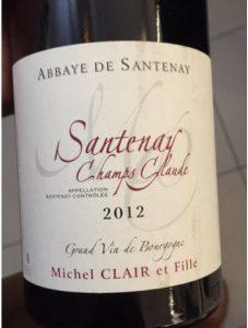Santenay Champ Claude_eti