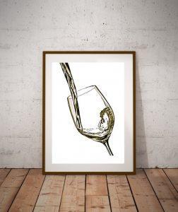 quadro vino bianco