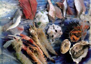 fantasia di pesce crudo secondo il pescato