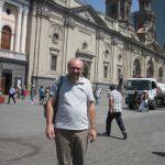 L'autore nel centro di Santiago