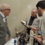 Al centro Riccardo Baracchi (Baracchi Winery), con il fido Giuseppe Grammauta