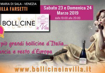 23 e 24 Marzo 2019 a Venezia, 3^ edizione di Bollicine in Villa