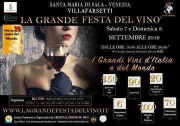 7 e 8 settembre a Venezia: La Grande Festa del Vino