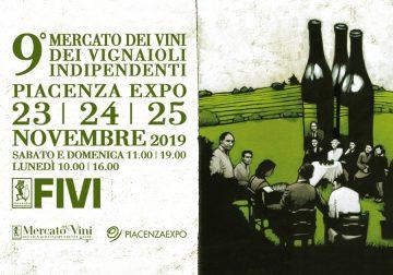 23-25 novembre a Piacenza, torna il Mercato FIVI dei Vignaioli Indipendenti
