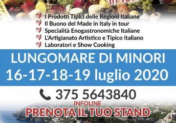 """16-19 luglio a Minori, parte """"Gusto Italia in Tour"""""""